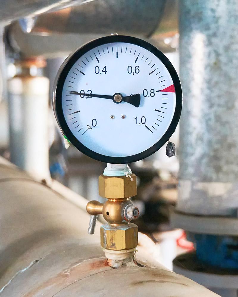 Pressure gauges help detect water leaks - High Tide Technologies